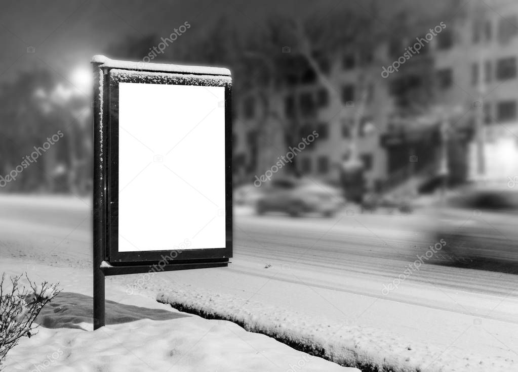 City format for poster and advertising billboards mockup