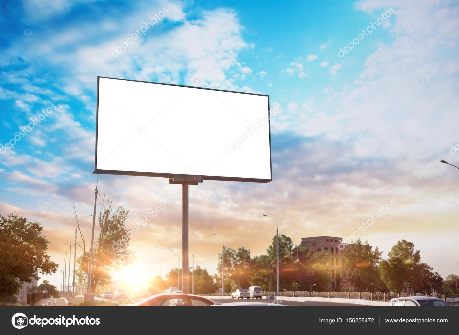Billboard canvas mock up in city background beautiful weather and billboard canvas mock up in city background beautiful sunshine photo by dymeet stopboris Images