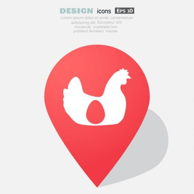 Hen with egg icon