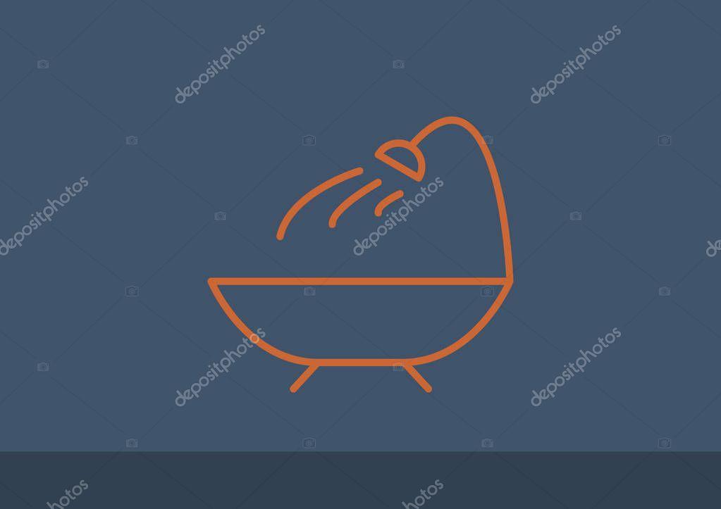 Vasca Da Bagno Disegno : Icona di web di vasca da bagno u2014 vettoriali stock © lovart #129369076