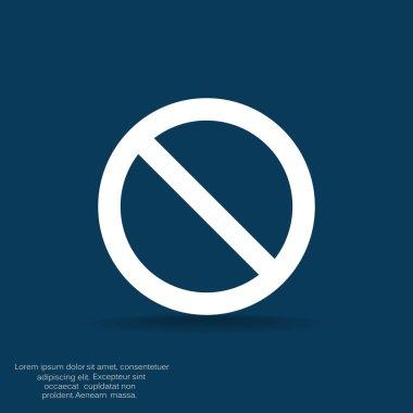 Forbidden sigh icon