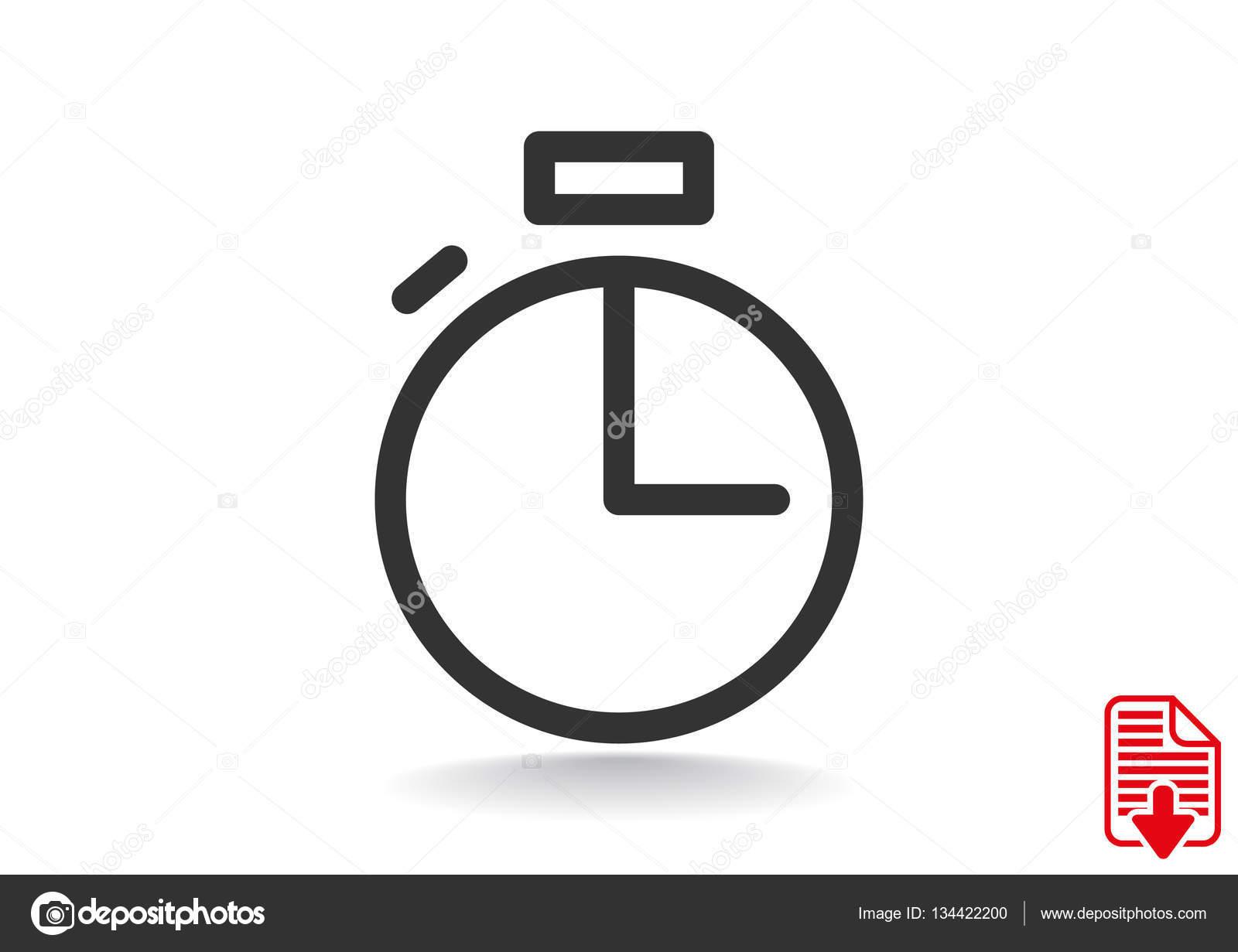 63214498cf7 Ícone de cronômetro simples web — Vetores de Stock © LovArt  134422200