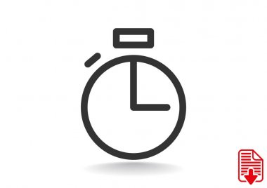 Simple stopwatch web icon