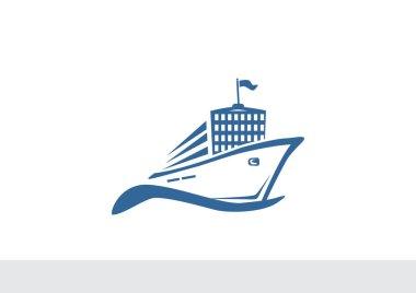 Liner ship icon