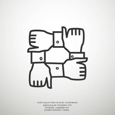 Partnership web icon