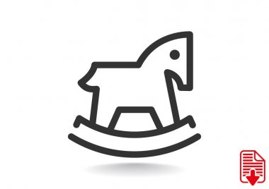 Children toy horse web icon