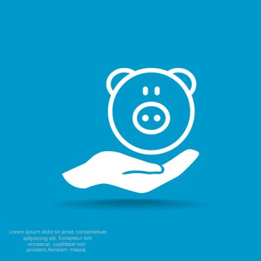Deposit insurance web icon. vector design stock vector