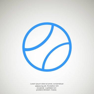 Tennis ball thin line icon