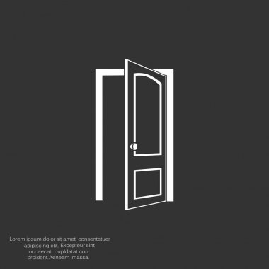 Opened door web icon