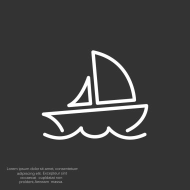 Simple line yacht icon