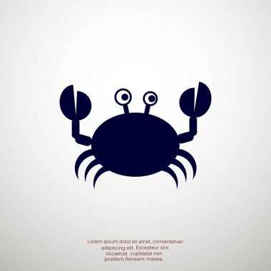 Doodle crab web icon