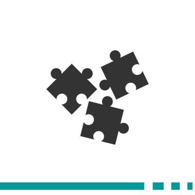 Puzzle elements simple web icon