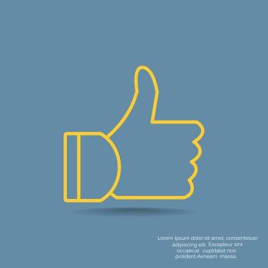 Thumb up web icon