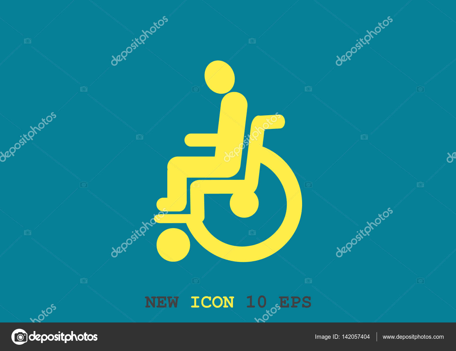 Disabled On Wheelchair Simple Icon Stock Vector Lovart 142057404