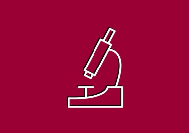 Simple microscope icon