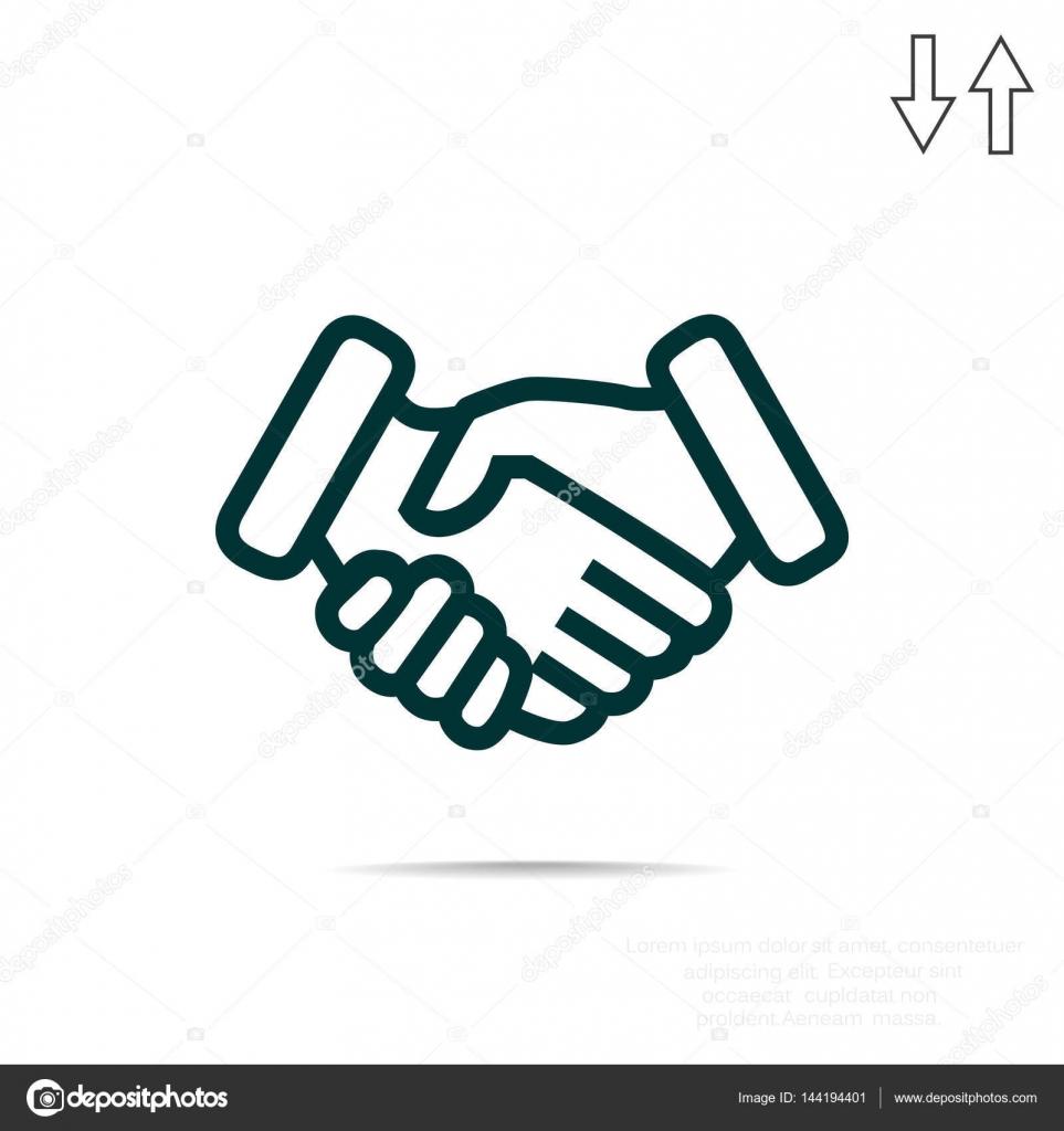 handshake simple icon stock vector lovart 144194401 rh depositphotos com vector handshake icon vector handshake icon