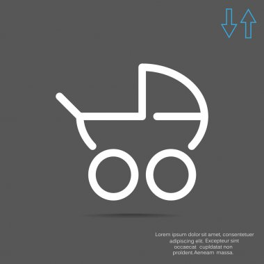 Simple stroller outline web icon