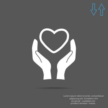 Charity web icon