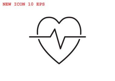 Cardiology symbol simple icon