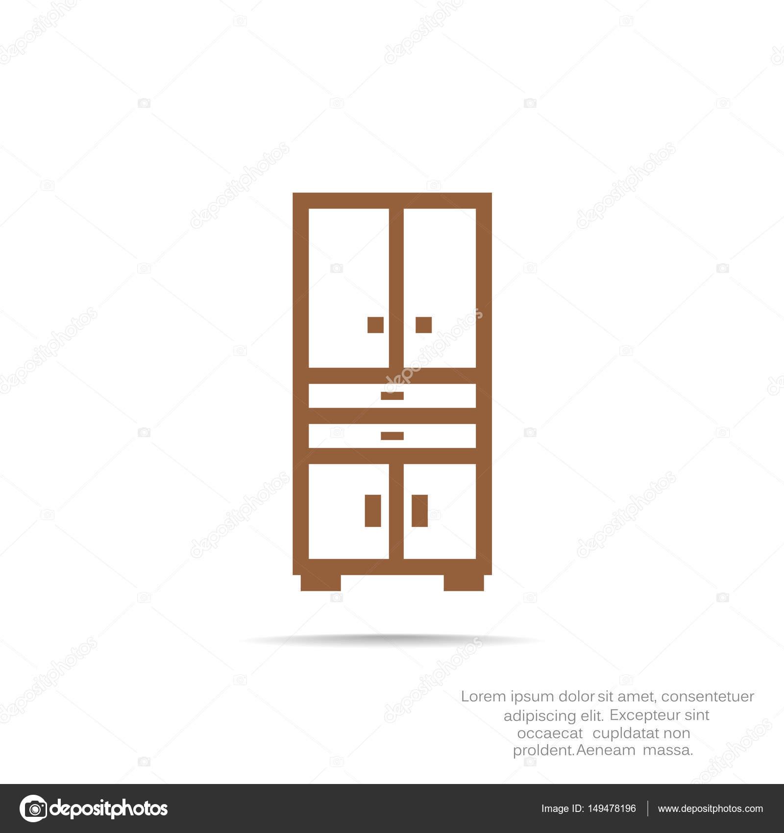 Kleiderschrank-flach-Symbol — Stockvektor © LovArt #149478196