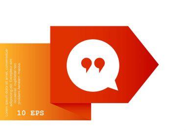 Dialog web icon