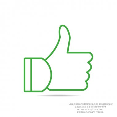 thumb up simple icon