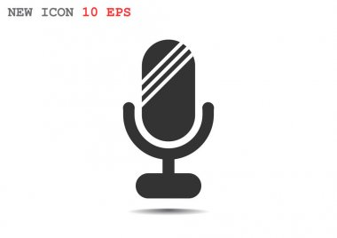 Simple microphone web icon