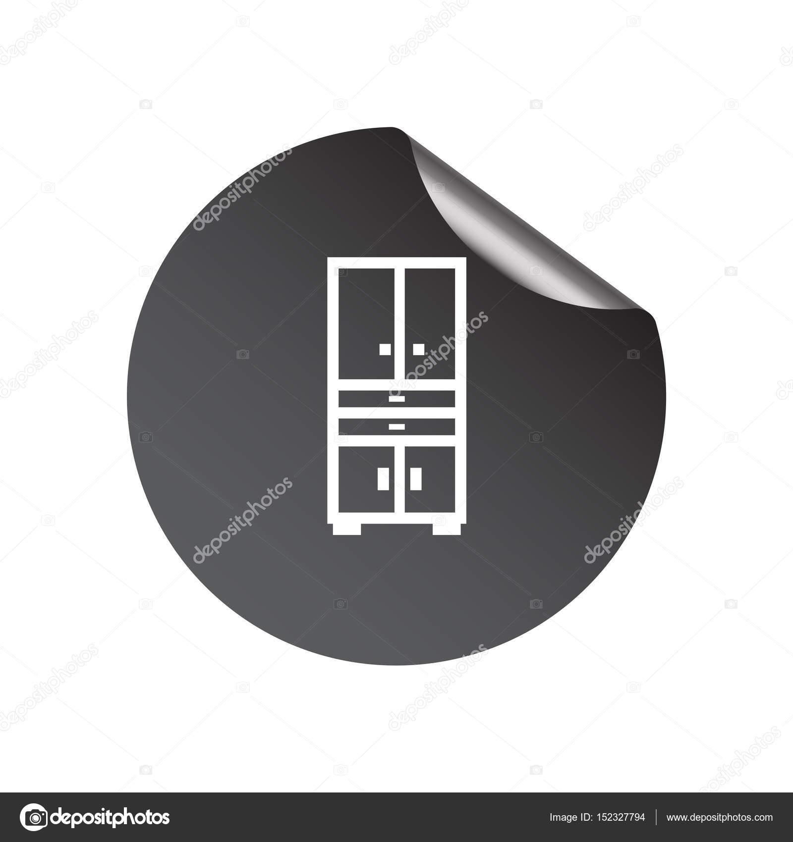 Kleiderschrank-flach-Symbol — Stockvektor © LovArt #152327794