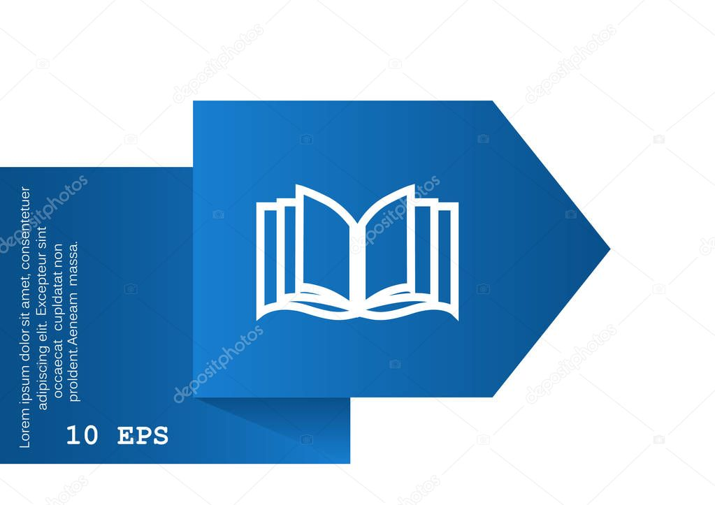 opened book web icon