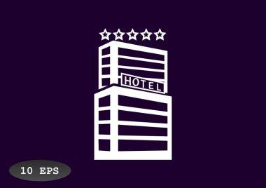 Hotel building web icon