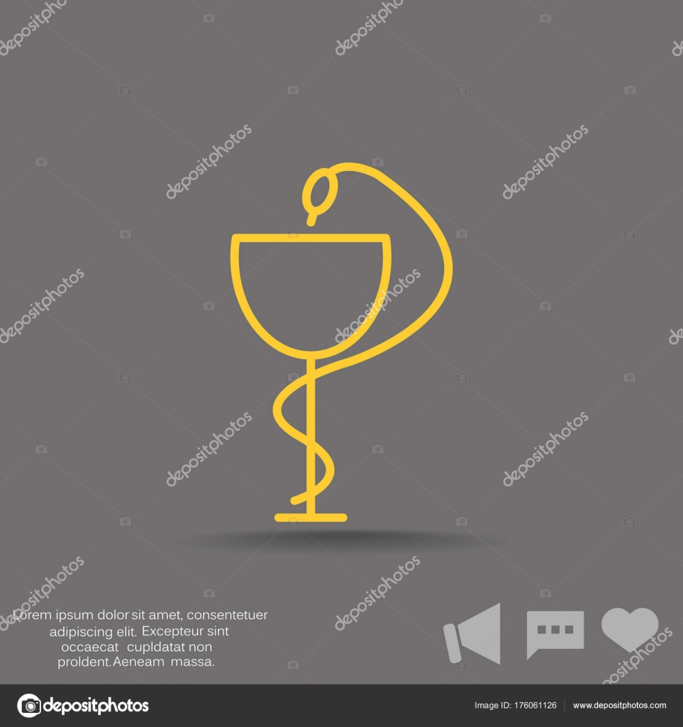 Pharmacy Symbol Medical Snake And Cup Stock Vector Lovart 176061126