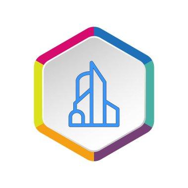 Hotel building web icon. Vector illustration