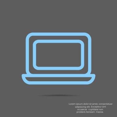 computer icon, vector illustration