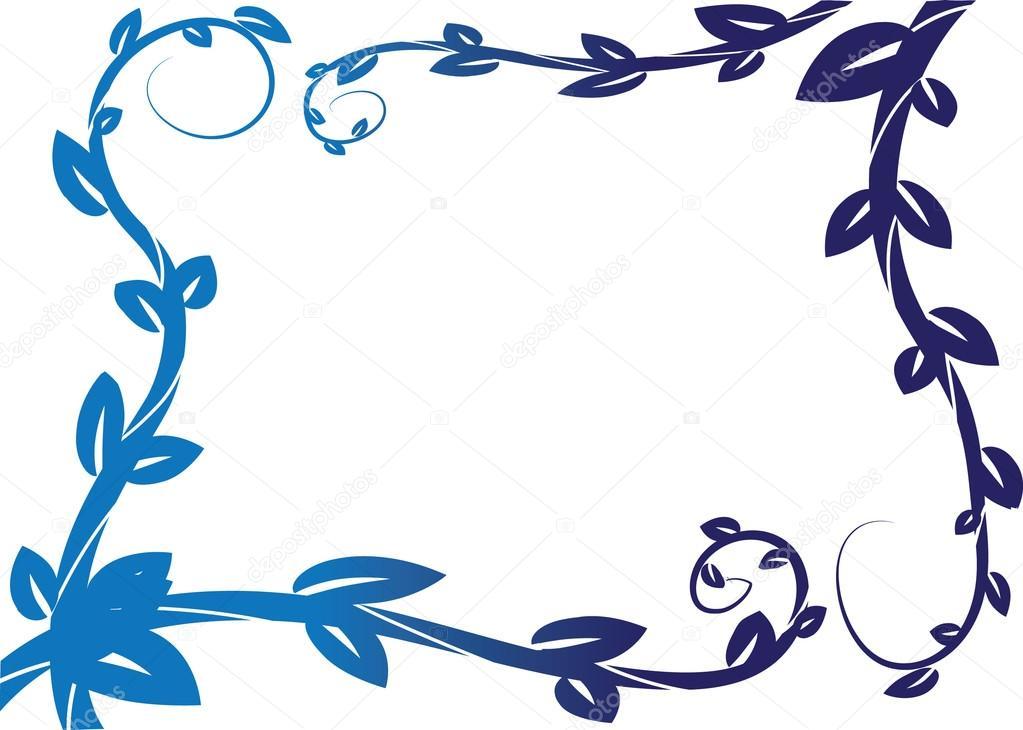 Blatt-Zeichnungsrahmen-Grenze — Stockfoto © wenpei #126220358