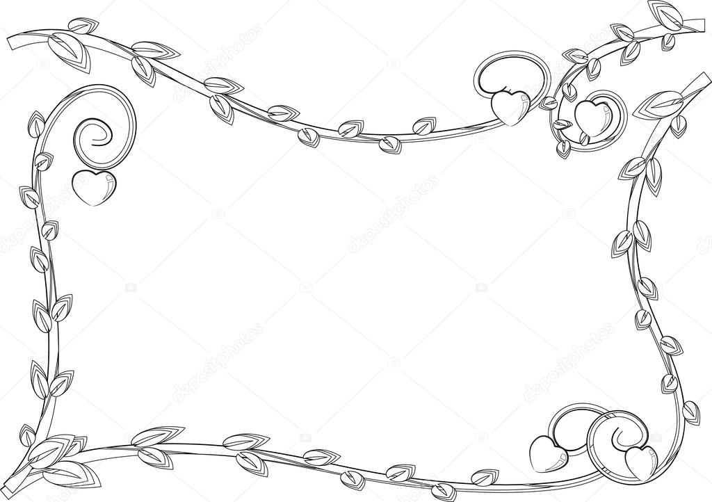 Cadre Bordure dessin de cadre bordure — photographie wenpei © #126220478