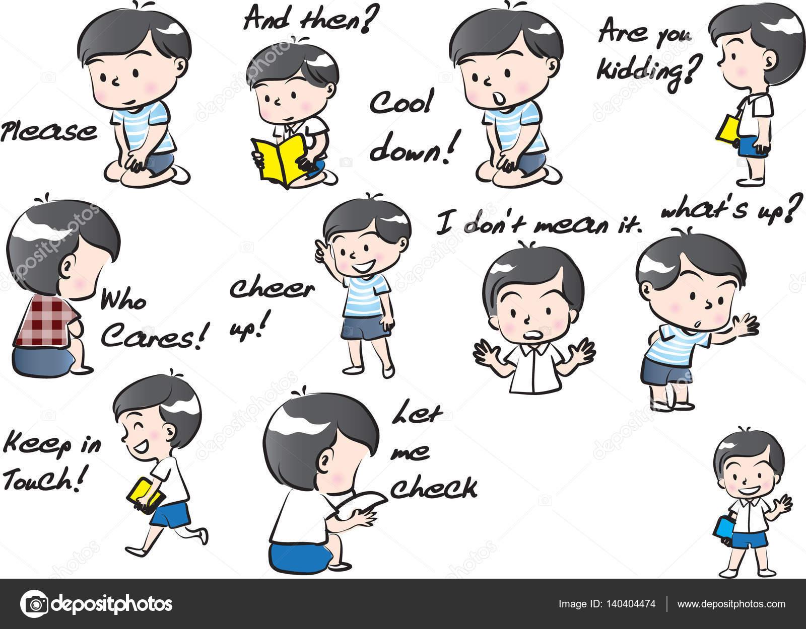 Junge mit Haustier Cartoon-Satz — Stockfoto © wenpei #140404474