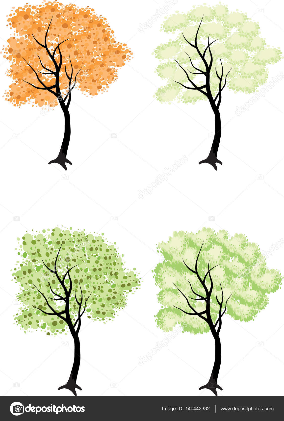 Tall Trees Drawing Stock Photo C Wenpei 140443332