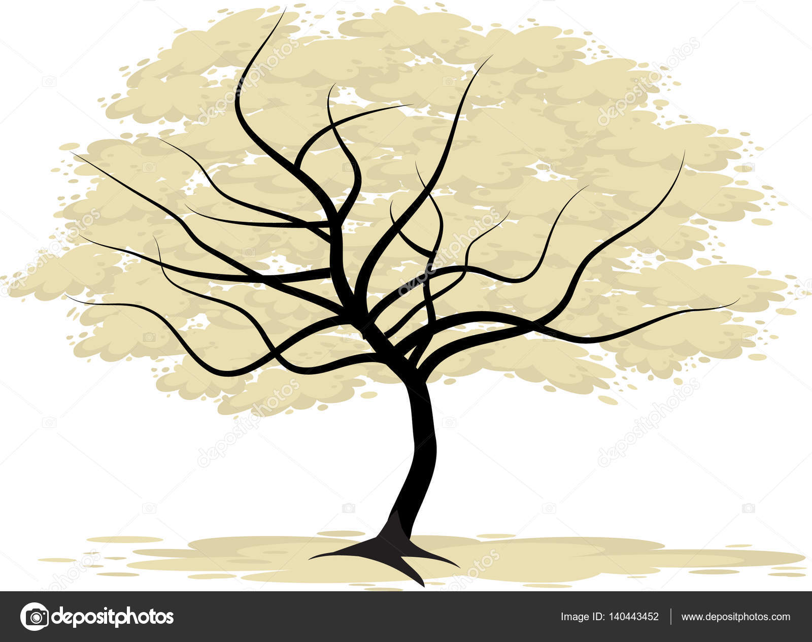 Tall Trees Drawing Stock Photo C Wenpei 140443452