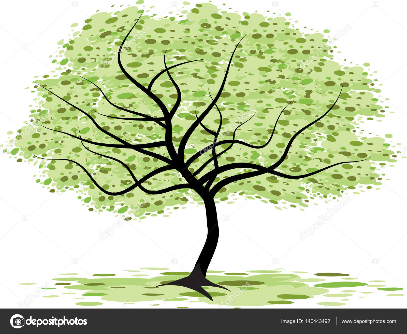 Tall Trees Drawing Stock Photo C Wenpei 140443492