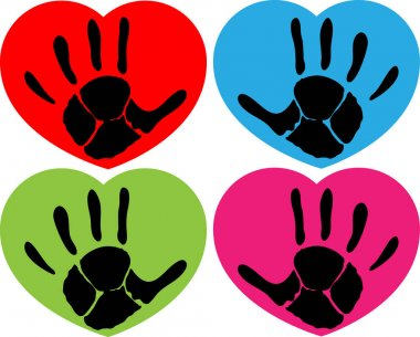 hand print signs