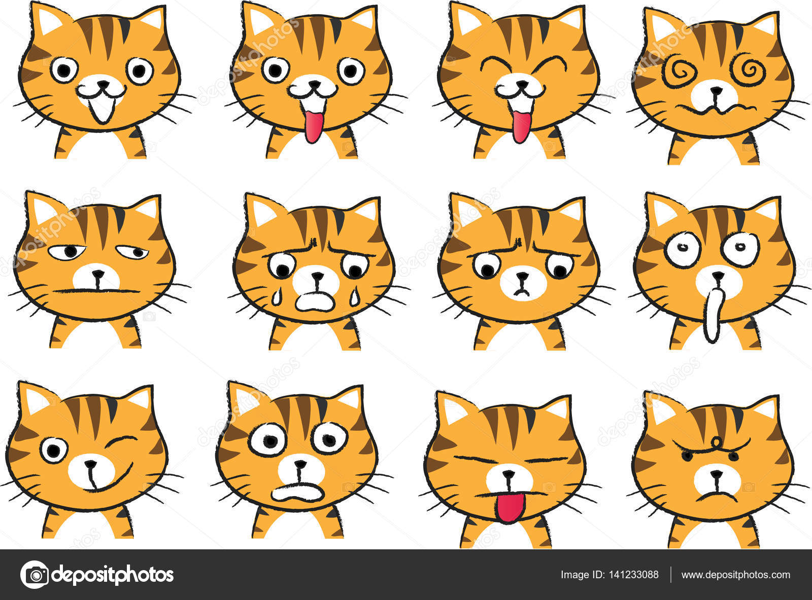 Imágenes Caras De Gatos Para Dibujar Cara De Gato De Dibujos