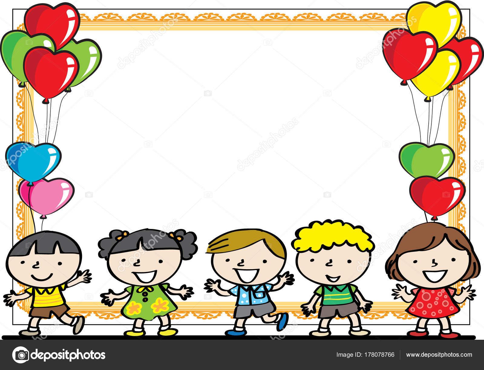 Fondos De Animales Animados: Crianças Dos Desenhos Animados Com Fundo Desenho Vetorial