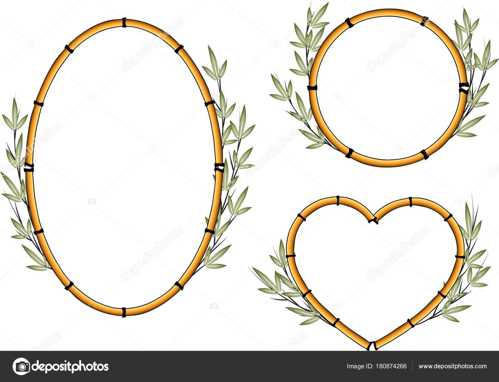 Bambus Vektor Zeichenprogramm Design — Stockvektor © wenpei #180874266