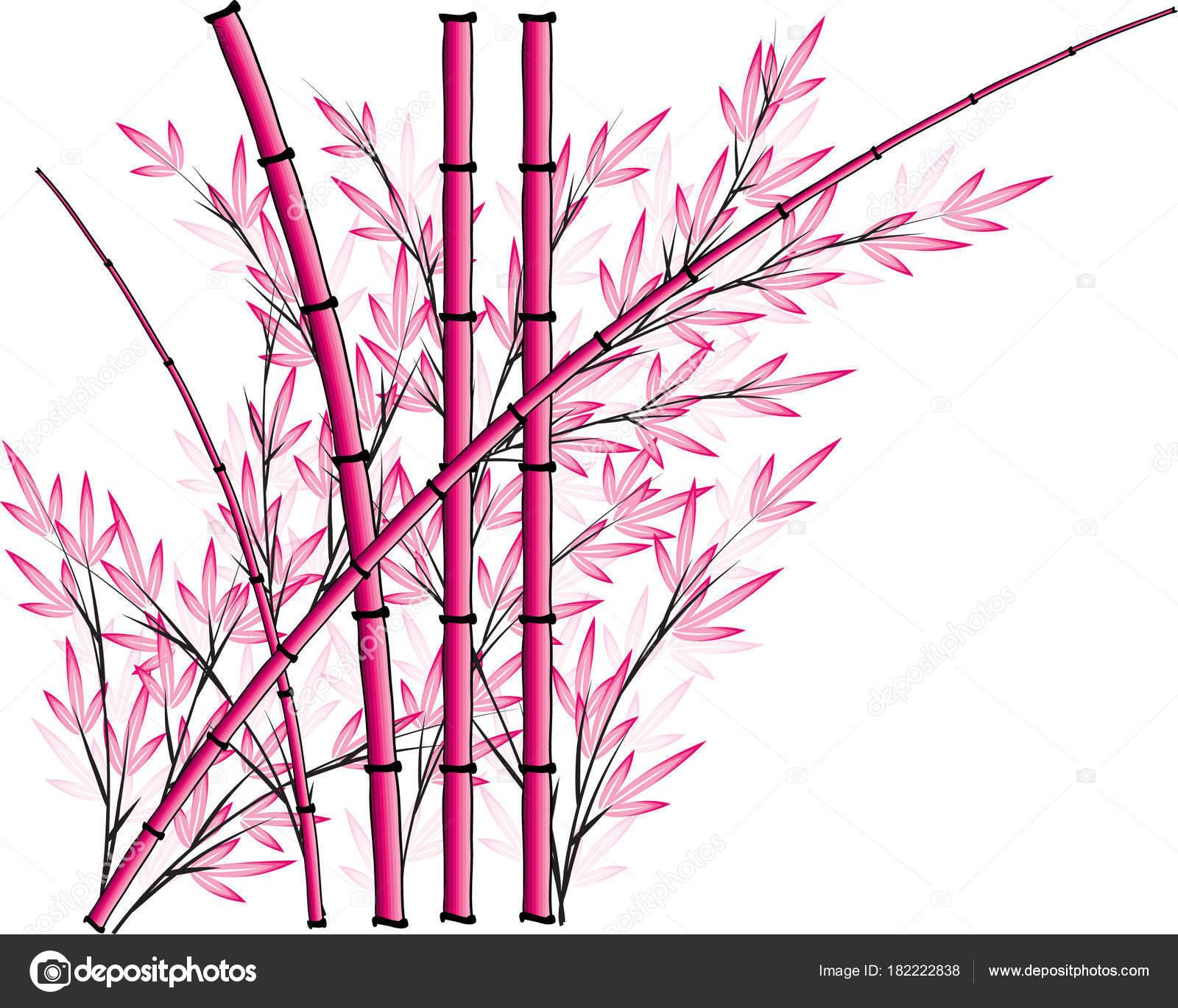 Bambus Vektor Zeichenprogramm Hintergrund Design Ikone — Stockvektor ...