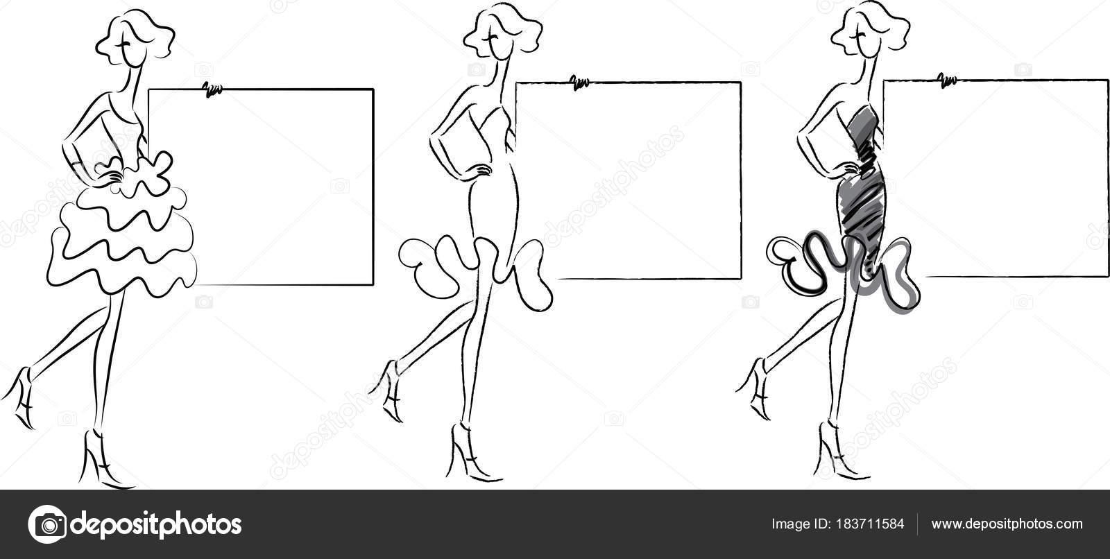 Schönheit Mode Vektor Zeichenprogramm Design — Stockvektor © wenpei ...