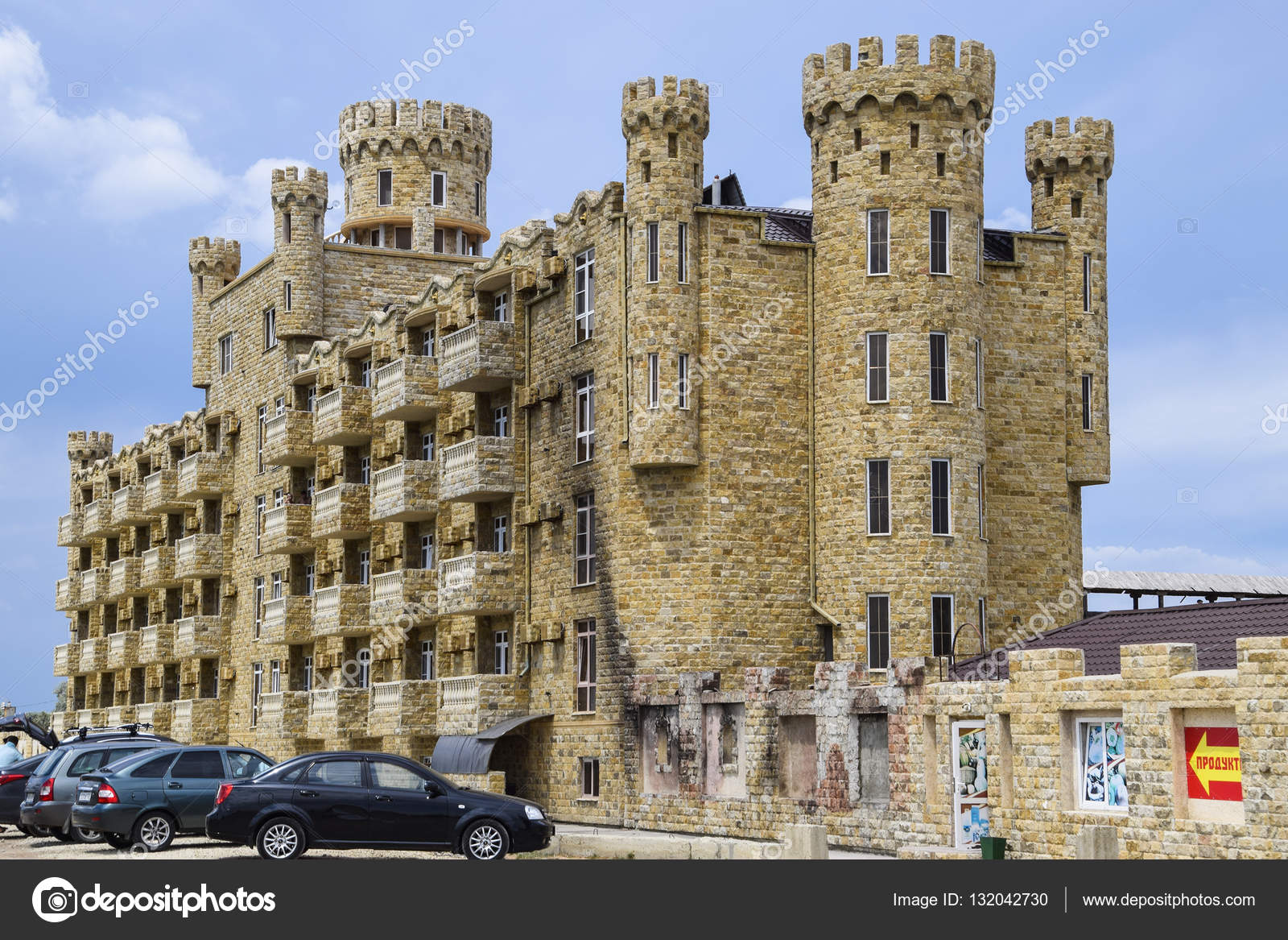 the hotel building covered with decorative stone multi storey hotel with a decorative