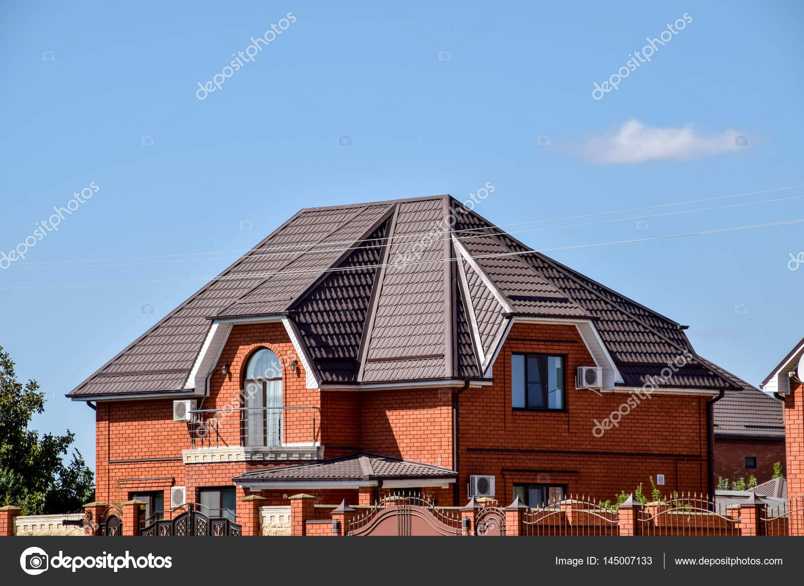 Roof Metal Sheets Modern Types Roofing Materials Stock