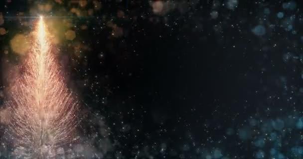 Animated Orange Christmas Pine Tree Star background seamless loop 4k resolution.