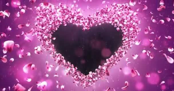 Pink Rose Sakura virágszirmok szív alakú alfa Matt hurok helyőrző 4k