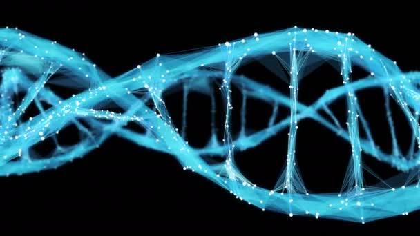 Pohybu pozadí digitální mnohoúhelník Plexus Dna molekulu 4k smyčka Alfa podkladu